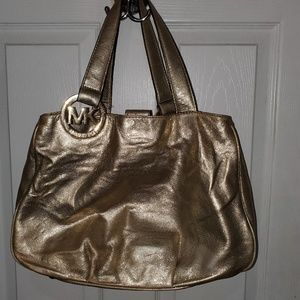 Michael Kors Gold/Metallic  Tote Purse